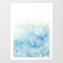 blue background (aquarelle) Art Print