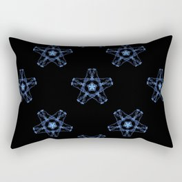 Blue Silk Rectangular Pillow