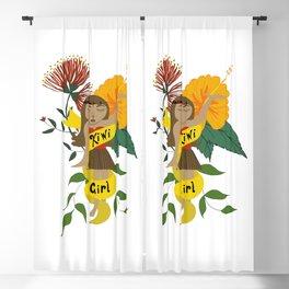 New Zealand kiwi girl Blackout Curtain