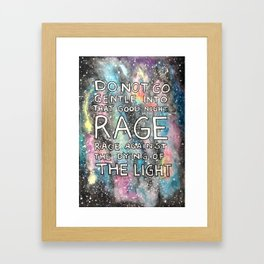 Rage, Rage Framed Art Print