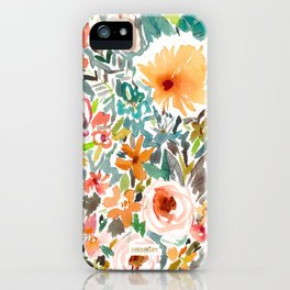 SMELLS LIKE MY EMOTIONS Floral iPhone Case