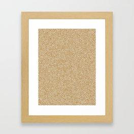 Melange - White and Golden Brown Framed Art Print