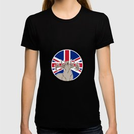 Red Deer Union Jack Flag Icon T-shirt