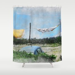 Erice art 6 Shower Curtain