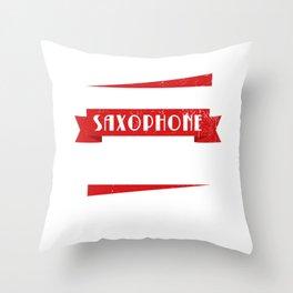 Sax Musician Jazz Marching Throw Pillow