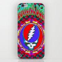 grateful dead iPhone & iPod Skins featuring Grateful Dead #10 Optical Illusion Psychedelic Design by CAP Artwork & Design