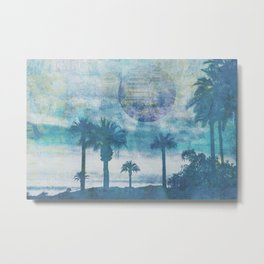 Pacific Paradise Island Blue Moon Metal Print