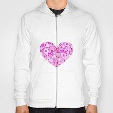 Retro Pink Heart Hoody