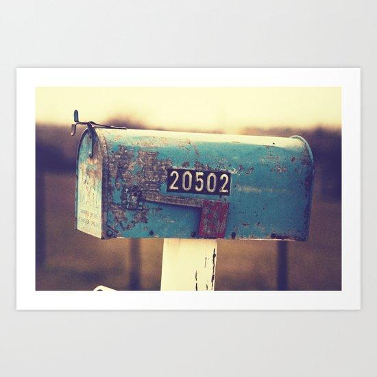 2 0 5 0 2 { you've got mail series} Art Print