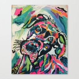 Day Brightening Dog Canvas Print