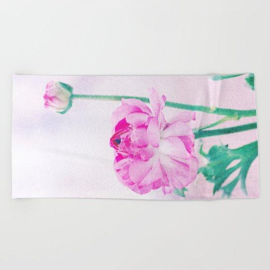 Vintage Ranunculus (7) Beach Towel