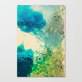 Retro Abstract Photography Underwater Bubble Design Canvas Print