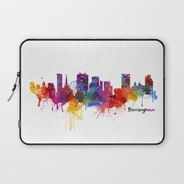 Birmingham Watercolor Skyline Laptop Sleeve