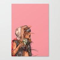 tank girl Canvas Prints featuring Tank Girl by Joe carver