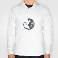space cat Hoodies featuring Space Cat by Kit & Cat