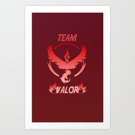 Team Valor Logo PokemonGo Art Print