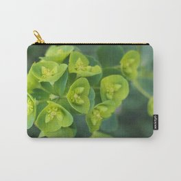 Green Blooms Carry-All Pouch