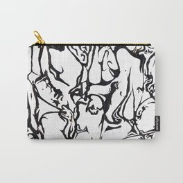 black and white hidden dancer Carry-All Pouch
