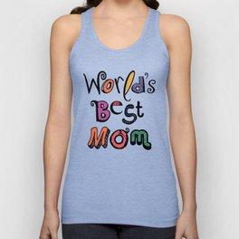 World's Best Mom Typography Unisex Tank Top