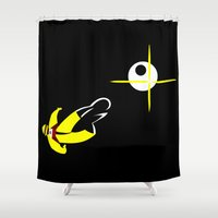2001 Shower Curtains featuring 2001 - Silence in outer space by Carlos Ramirez