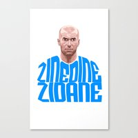 zidane Canvas Prints featuring Zidane Name Blue by Sport_Designs