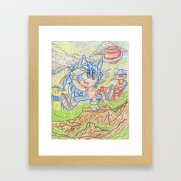 Sonic the look out Framed Art Print