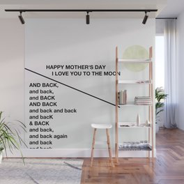 mother's day moony love Wall Mural