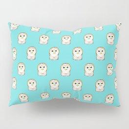 Cute Little Owls Pattern Teal Pillow Sham