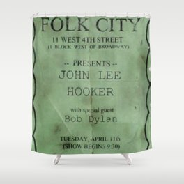 Rare 1961 Bob Dylan Gerdes Folk City Concert Poster Shower Curtain