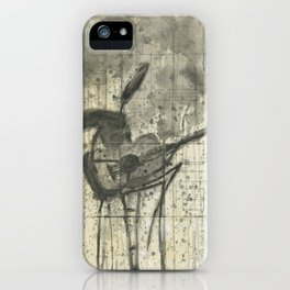 """GUITAR. A SERIES OF WORKS """"MUSIC OF THE RAIN"""" iPhone Case"""
