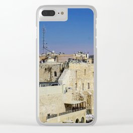 The Wailing Wall Clear iPhone Case