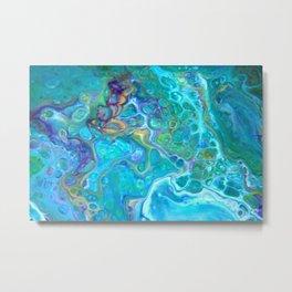 Fluid Nature - Ocean Jewels Abstract Art Metal Print