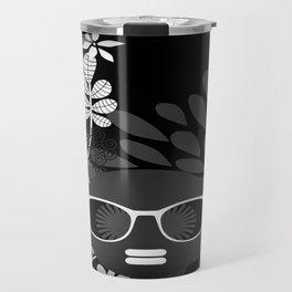 Afro Diva : Sophisticated Lady Black & White Travel Mug