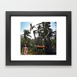 Living In The Jungle Framed Art Print