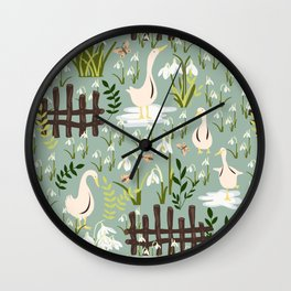 Beyond That Fence Wall Clock
