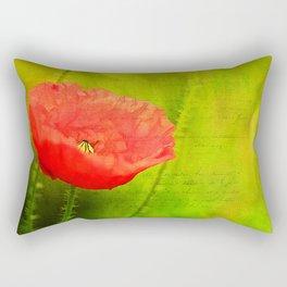 Summer Poppy Rectangular Pillow
