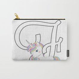 Unicorn a,b,c ,letters,fonts,names  tshirt  Carry-All Pouch