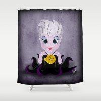 ursula Shower Curtains featuring Villain Kids, Series 1 - Ursula by Joe Alexander