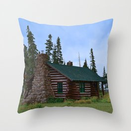 Let's Go Camping! Throw Pillow