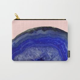 deep blue agate with peach background Carry-All Pouch