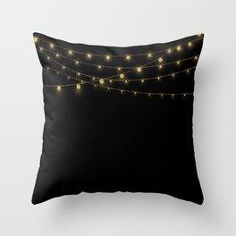 Gold rich Glitter Chain- Treasure Sparkle Throw Pillow