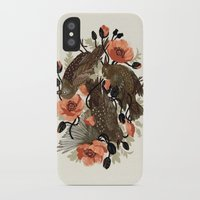 zombie iPhone & iPod Cases featuring Spangled & Plumed by Teagan White
