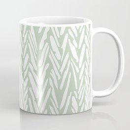 Herringbone mudcloth pattern - light green Coffee Mug