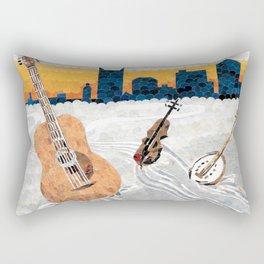 Nashville Music Still Flows Rectangular Pillow