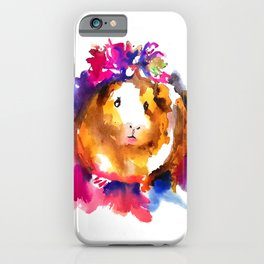 Guinea Pig in Flower Crown iPhone Case