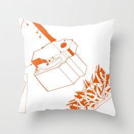 Orange Tech Throw Pillow