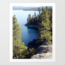 """End of the Trail, Emerald Bay"" Art Print"