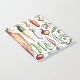 Adolphe Millot - Légumes pour tous - French vintage poster Notebook