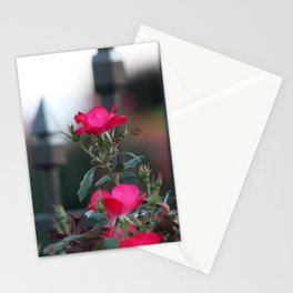 Cold Iron and Soft Pink Petals Stationery Cards