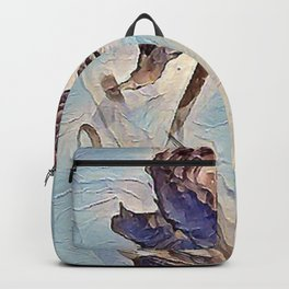 Blue Clover Art Backpack